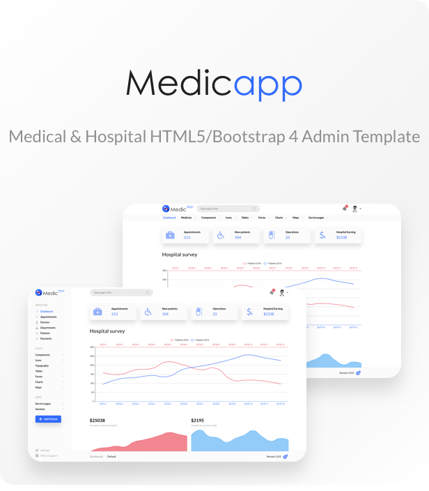 MedicApp - Medical HTML5/Bootstrap admin template - 1